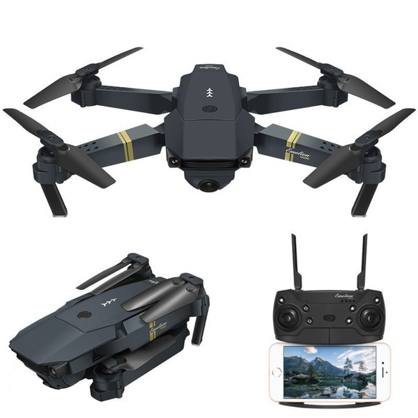 Mini Eachine E58 WIFI Global drone FPV With Wide Angle HD Camera LED light High Hold Mode Foldable Arm RC Quadcopter professional Drone