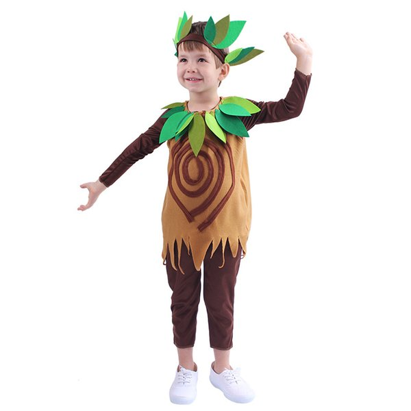 Children's Big Tree Dress Up Cosplay Stage Dress Performance Costume Halloween Makeup Party Anime Costumes Child Cute Tree Uniform