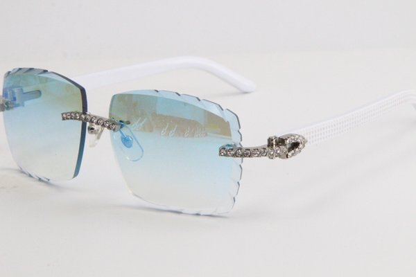 Lente specchio blu argento