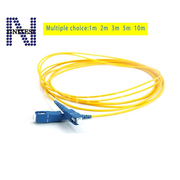 Free shipping 10pcs Original new Fiber Optic jumper SC-UPC Single Mode Patch Cord jumper pigtail,1/2/3/5/10meters SM cable