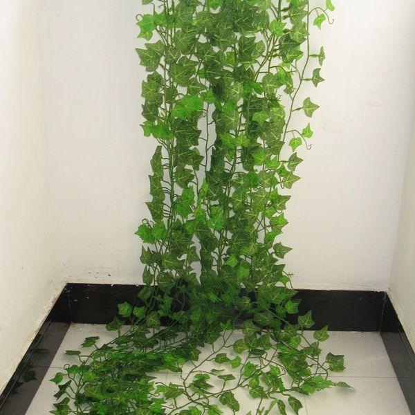 2.4m Artificial Ivy Green Leaf Garland Plant Vine Fake Foliage Flower Home Garden Decoration Plastic Floral Rattan String C19041702