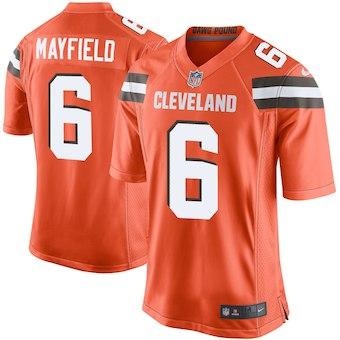 check out 2b35f cad27 Compre Baker Mayfield Jersey Cleveland Browns Jarvis Landry Myles Garrett  Equipos Color Pro Bowl Custom America Camisetas De Fútbol Americano Mujeres  ...