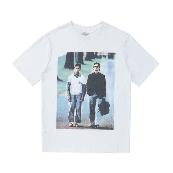 19SS Europe et Amérique Tide film pluie homme de la pluie Un T-shirt en coton à manches courtes imprimé de caractères Tang Ge