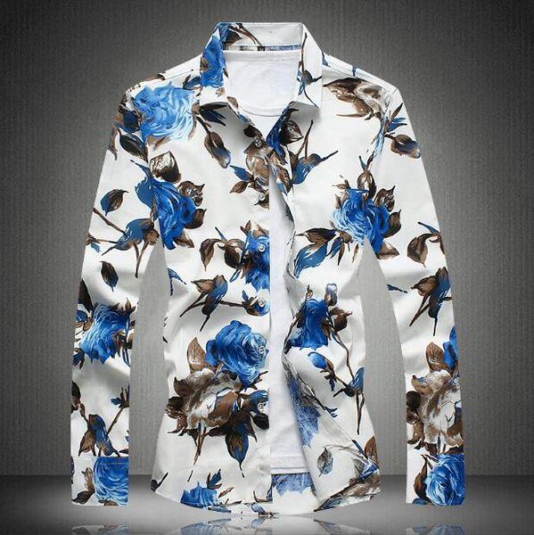 2019 New Long Sleeve Men Shirts Social Stand Collar M-4XL Plus Size Mens Dress Shirts Soli Shirts Men Casual Clothing Men