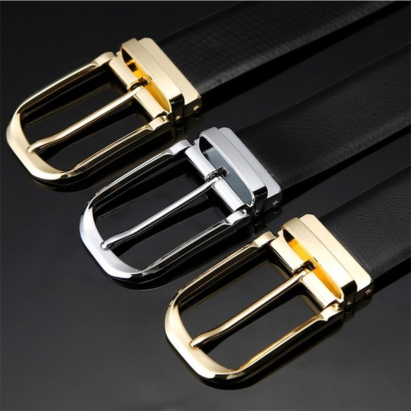 Man Leather Belt Business Formal Waistband Needle Buckle Girdle Simple Double Sided Use Mans Classic Hot Sale 19cd D1