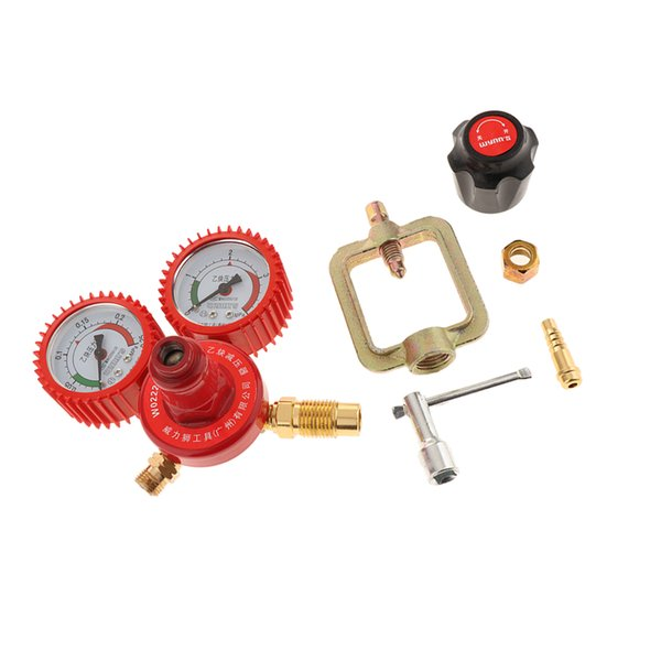 best selling Durable Copper Pressure Regulator with Software Set for Acetylene Two Stages Pressure Regulator for Acetylene 2.5m3 h