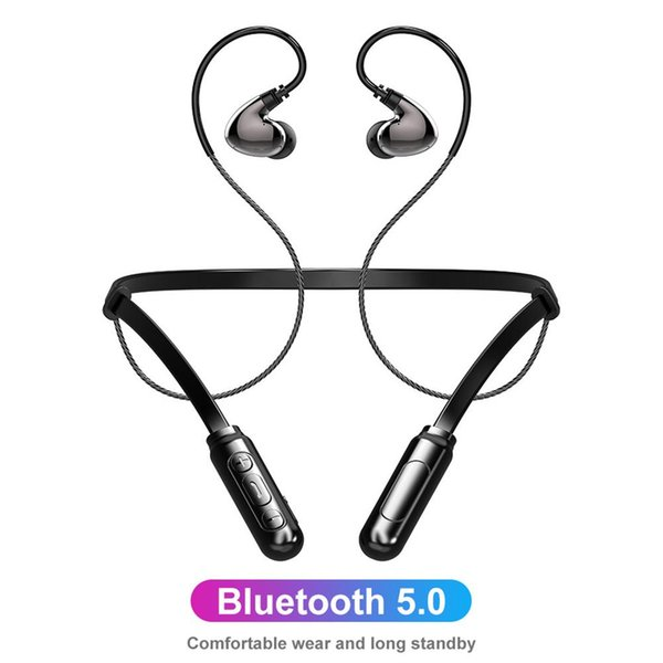 Z5 Bluetooth Наушники Беспроводные Спортивные Вкладыши Наушники Шейный Bluetooth-гарнитура С Микрофоном Для Всех Смартфонов