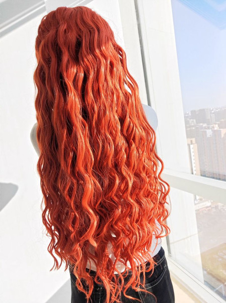 Synthetic Lace Front Wigs Body Wave Heat Resistant Pink 7 Color in Stock 24 Inch Glueless 180% Density Cosplay Wigs For Black Women