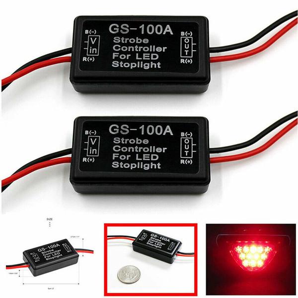 Accesorios para automóviles para motocicleta GS-100A LED Controlador de flash de freno de freno Reino Unido