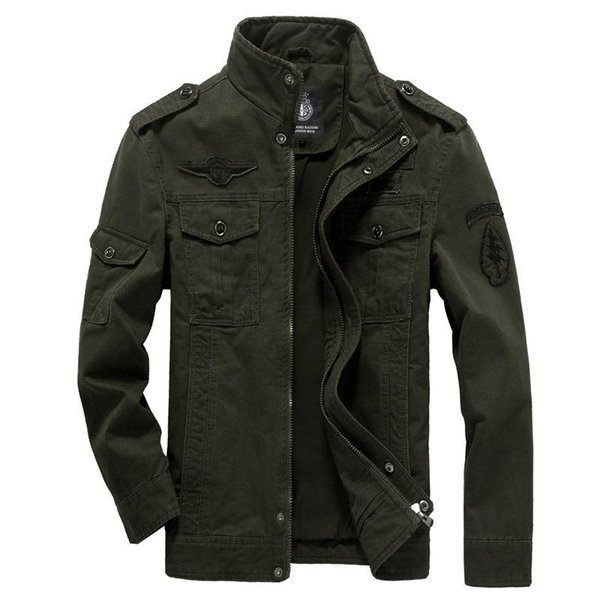Cotton Military Jacket Men 2019 Autumn Soldier MA-1 Style Army Jackets Male Brand Slothing Mens Bomber Jackets Plus Size M-6XL
