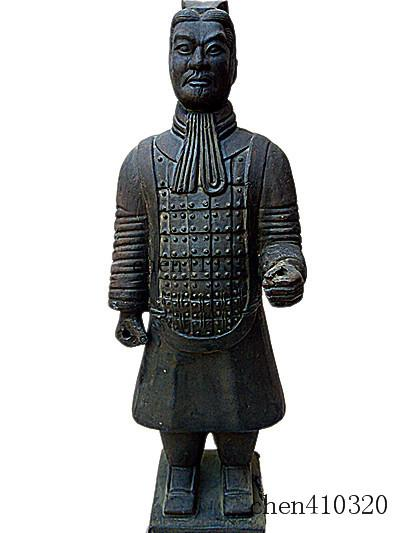 Terracotta Warriors officer Statue 27cm height Designer replica Ancient Qin Shihuang warrior eighth wonder world Great history miracle