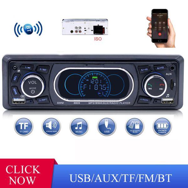 SWM 8809 스테레오 오디오 자동차 원격 제어 MP3 플레이어 1 딘 AUX / TF / USB FM 블루투스 자동차 라디오 자동차 MP3 플레이어