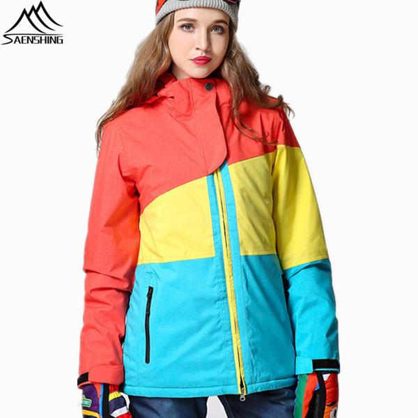 Giacca da sci da donna Giacca da sci Giacca da snowboard Impermeabile Giacca da neve Abbigliamento sportivo da sci Traspirante Super caldo Inverno Completo da sci Cappotti