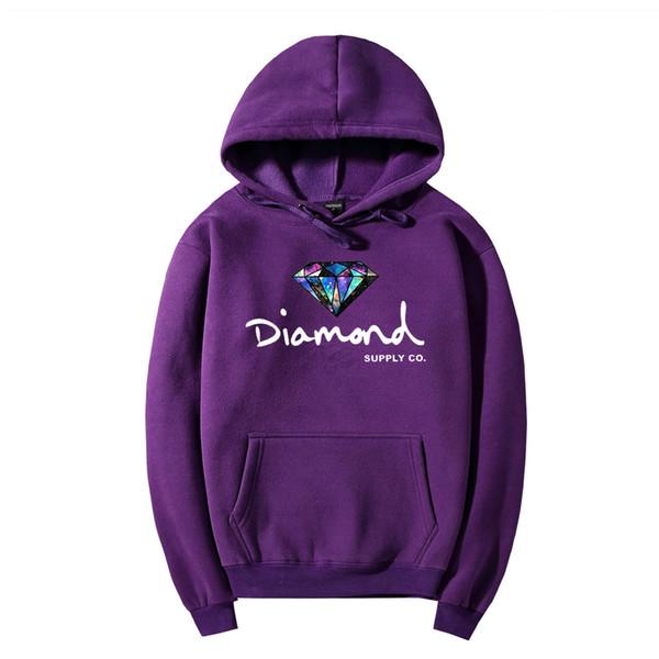 Männer Neue Diamant Hoodie für Männer Frauen Marke Sweatshirt mit Brief Druck Streetwear Stil Hoodies 11 Farben Herbst Winter Hoodies