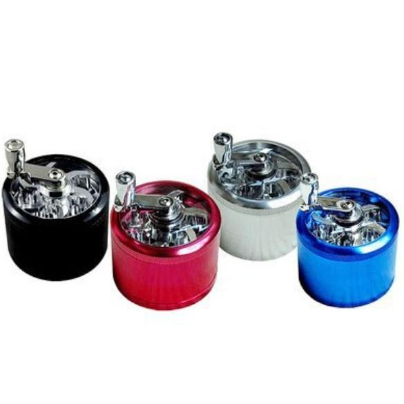 4 Layer Zinc Alloy Hand Grinders 6 Colors Herb Spice Pollen-Grinder Crusher Hand Muller Smoking Cracker 55MM 2 Pieces ePacket