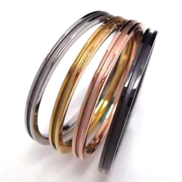 ARRSS002 New 316L round slim channel stuck ring steel gold rose gold gun Lovi daily wear prefect gift couple jewelry