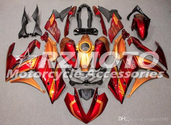 Sale new injection mold ab motorcycle fairing kit for yamaha r3 r25 2014 2015 2016 2017 2018 2019 bodywork et cu tom red orange