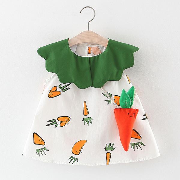 Niño de los bebés para niños de zanahoria de las colmenas del remiendo vestido de la princesa Vestidos 2019 NUEVO envío de la gota