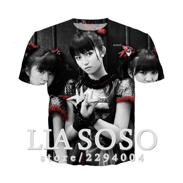 Babymetal 3D stampa estate Tshirt donna uomo vendita calda manica corta girocollo casual fan hip hop t-shirt gioco top p1