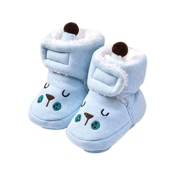 Winter Newborn Baby Girl Warm Soft Sole Snow Boots Fleece Crib Shoe Toddler Boot