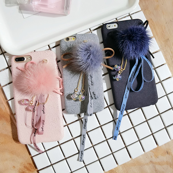 2019 New Tide Water Hair Ball Streamer DIY Mobile Phone Shell Accessories Handmade Crystal Pendant Jewelry Material with Three Styles
