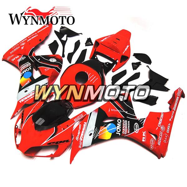 Ярко-красный и черный литьевая панель Полный обтекатель мотоцикла для Honda CBR1000RR 2006 2007 06 07 Велосипедные чехлы Панели Новый
