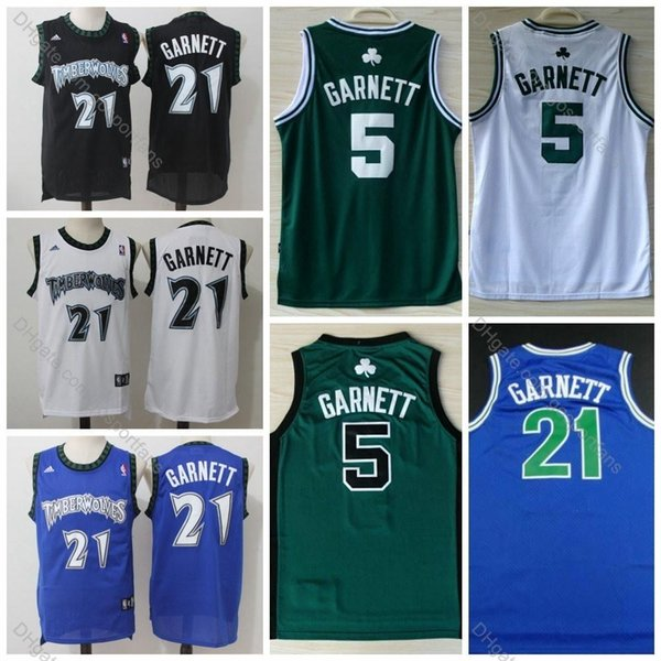 new concept 0917f 608fc 2019 Vintage Timberwolves Kevin Garnett Jersey #21 Cheap Men Minnesota  Kevin Garnett Basketball Jerseys Celticses Black White Blue Stitched S XXX  From ...