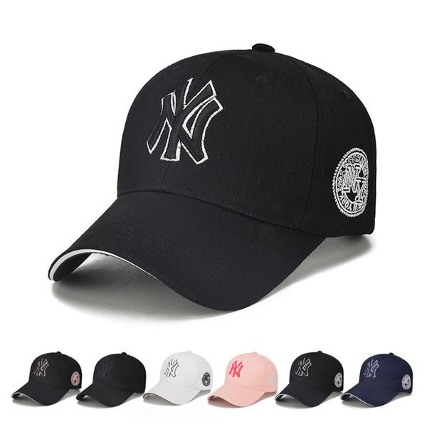 Unisex için yeni Moda Tasarımcısı Kap Şapkalar Ayarlanabilir Mektubu Baskı Campaniform Beyzbol Şapkası Rahat Snapback Pamuktan 6 renkler Ile