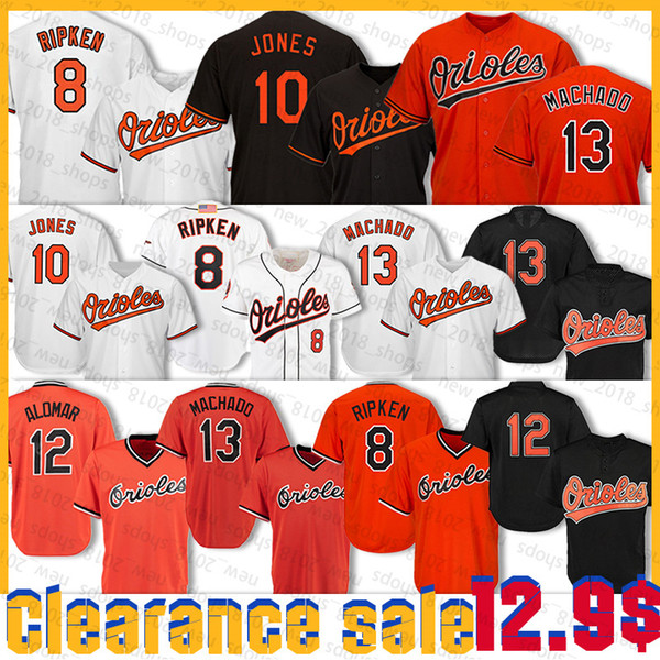 top popular 13 Manny Machado 8 Cal Ripken Jr. Jersey 10 Adam Jones 12 Roberto Alomar 35 Eric Hosmer promote sales Bsaeball Jerseys 2020