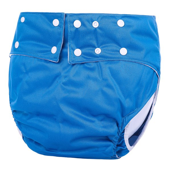 OEM&ODM Bule Waterproof Reusable Adult Machine Washable adult Diapers Disabled Adult Cloth Diaper For Men and Women