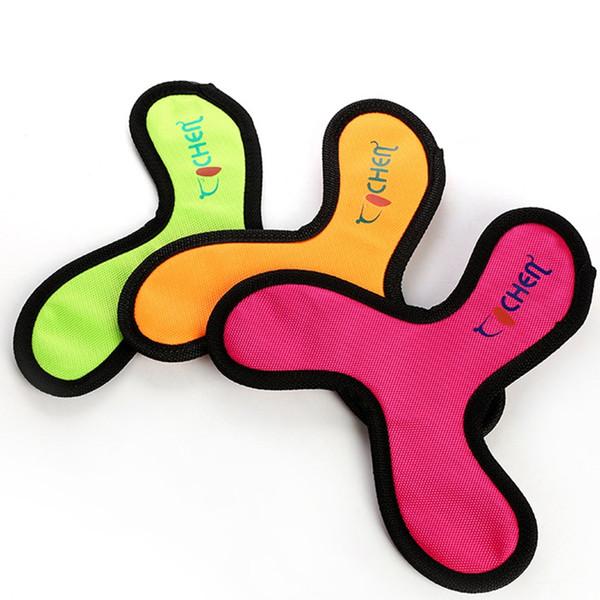 Новые стили Оксфорд Ткань Игрушки для собак, чтобы жевать прорезывания зубов в C V трилистник в форме дротики для собак Интерактивная игра