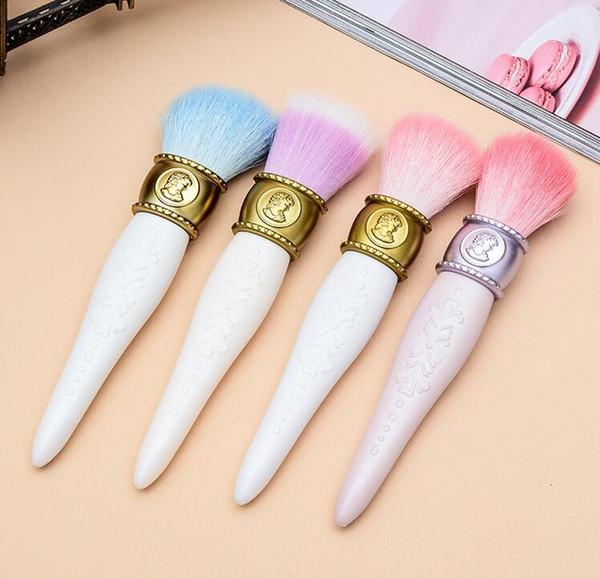 Em estoque les Merveilleuses LADUREE Bochecha / Pó / Pincel de Base Cameo Porcelain Design - Maquiagem Beleza Blender Brushes Tools