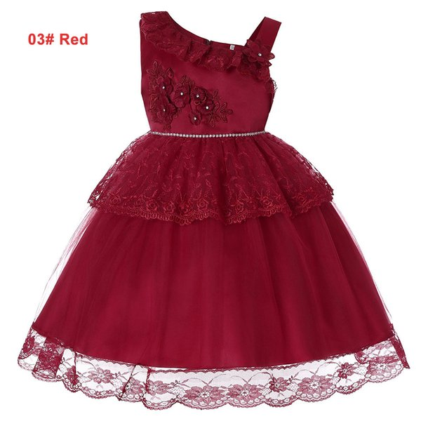 Girls Summer 4 to 14 years tutu lace flowers Rhinestone dress, 6 colors to chosen, baby kids & teenager boutique party clothes, 2AAX808DS-12