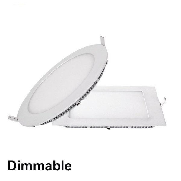 Dimmable 3W 9W 12W 15W 18W 21W CREE Led Recessed Downlights Lamp Super-Thin Led Panel Lights Round Square