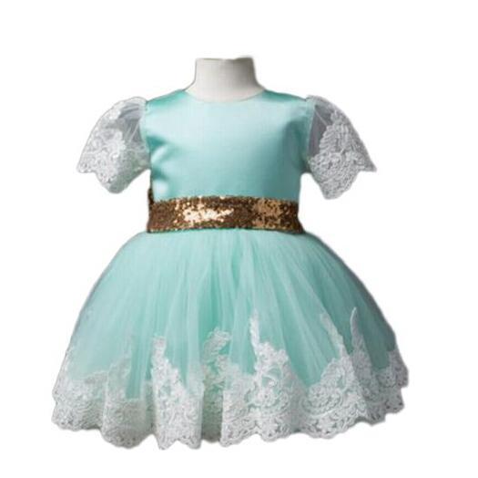 bebek kız Bebek Kız bebekler prenses Elbiseler Çiçek Tutu Düğün kısa kollu Yarışması Dantel tül pruva düğüm Elbiseler