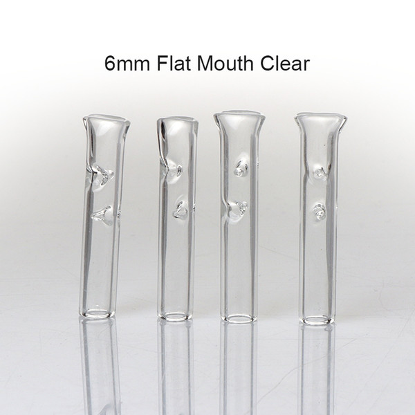 6mm Clear Flat Mouth