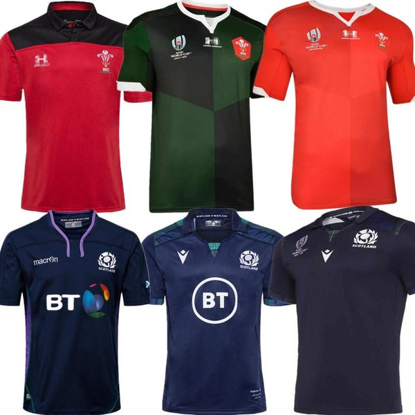 best selling Best Quality 2019 2020 Wales Home new Scotland rugby jerseys 19 20 National Rugby League Wales rugby jerseys red mens size S - 3XL
