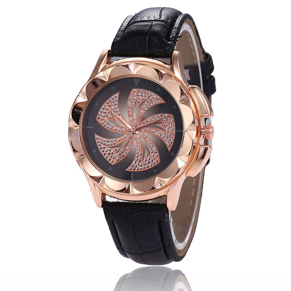 Females Watch Hot style sales rose gold diamond windmill classic ladies watch fortune is hot leisure students female Watch