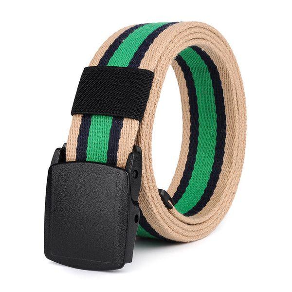 vente en magasin grande remise dégagement Luxury Striped Canvas Belts Fashion Man Woman Waistbands Leisure Straps  Famous Unisex Belt Hip Hop Ceinture Webbing Waist Strap Maternity Belt  Leather ...