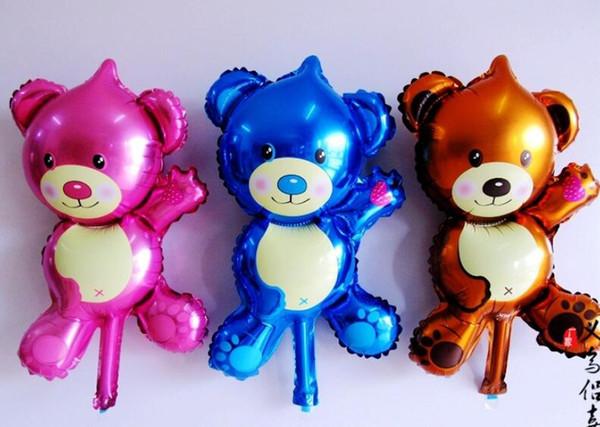 26 * 44 cm balões de alumínio festa de aniversário urso balões brinquedos infantis balão adorável mini balões 50 p / l