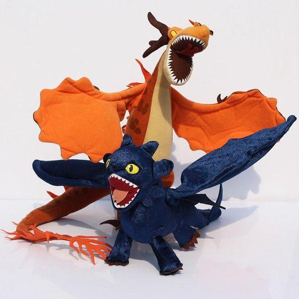 Come Train Your Dragon senza denti Notte Firedragon incubo Fury farcito peluche Teddy Dolls MMA1558