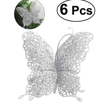 6 x Christmas Butterfly 3