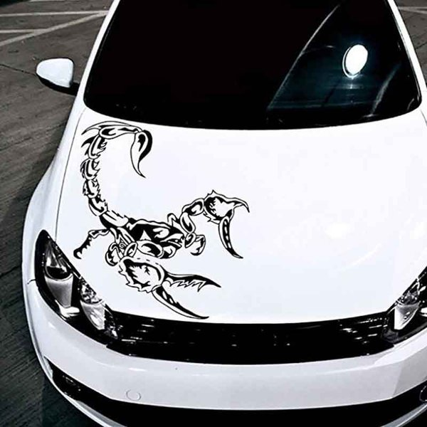 Car-Styling Personality Cover Scratches Scorpion Stickers Car Accessories Post Hood Front Cover Against