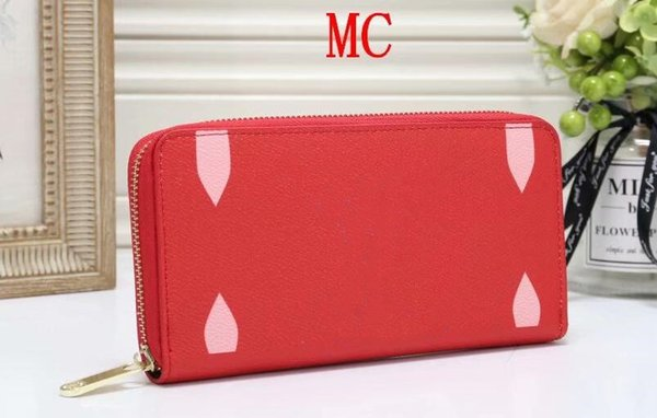 2019 new hot women Wholesale lady flowers long wallet multicolor designer coin purse Card holder women classic zipper pocket
