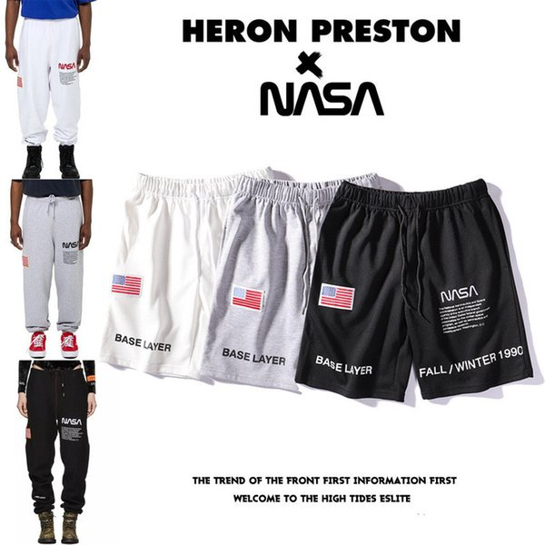 top popular HERON PRESTON x NASA Sports Shorts & Trousers Summer Casual Unisex Brand Sports Pants Trousers High Quality 2019