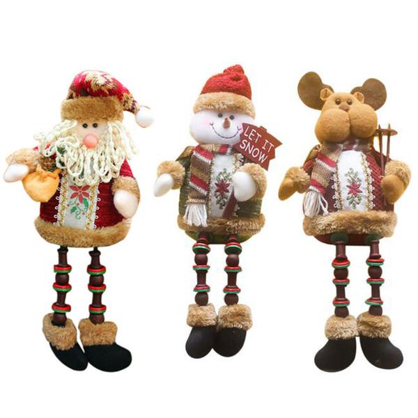 Decorações de Natal Papai Noel sentado Porcelana Boneco de neve Natal Ornamen # 6