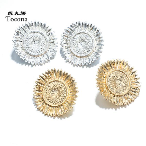 Tocona Mode Attraktive Einfache Stil Schöne Blumen 2 Farben Ohrstecker Schmuck Für Frauen Weiblich Drop Shipping 4436