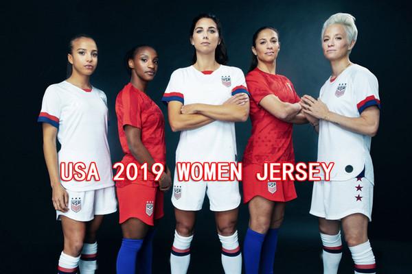 Coppa del mondo femminile 2019 America girl Maglia da calcio Stati Uniti casa lontano Maglia da calcio USA donne 3 stelle LLOYD RIPINOE KRIEGER Camiseta