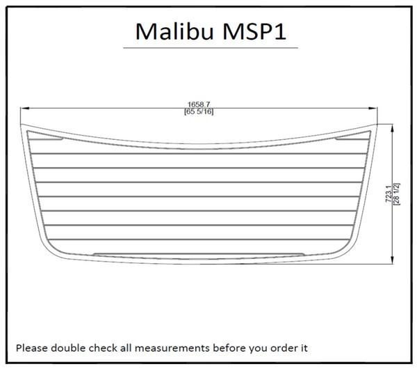 Malibu MSP1 Swim plataforma Pad barco EVA teca Decking 1/4