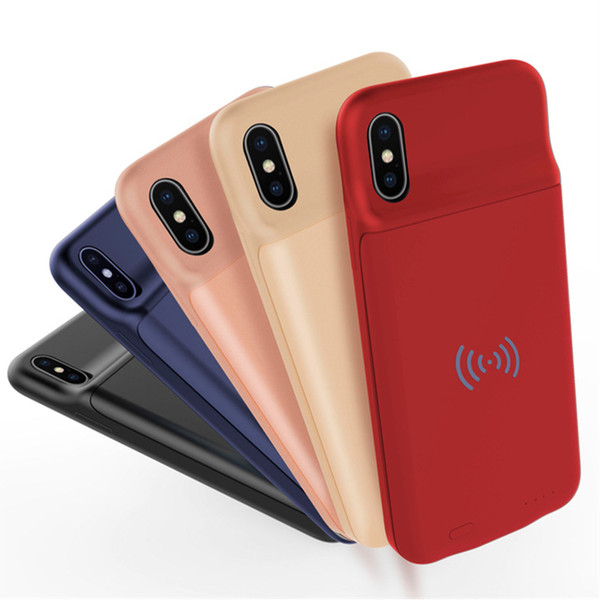 Ultra Thin wireless Charging Case For iphone X 7 8 plus External Power Bank Back Cover Battery Charger Adapter support 3600mAh